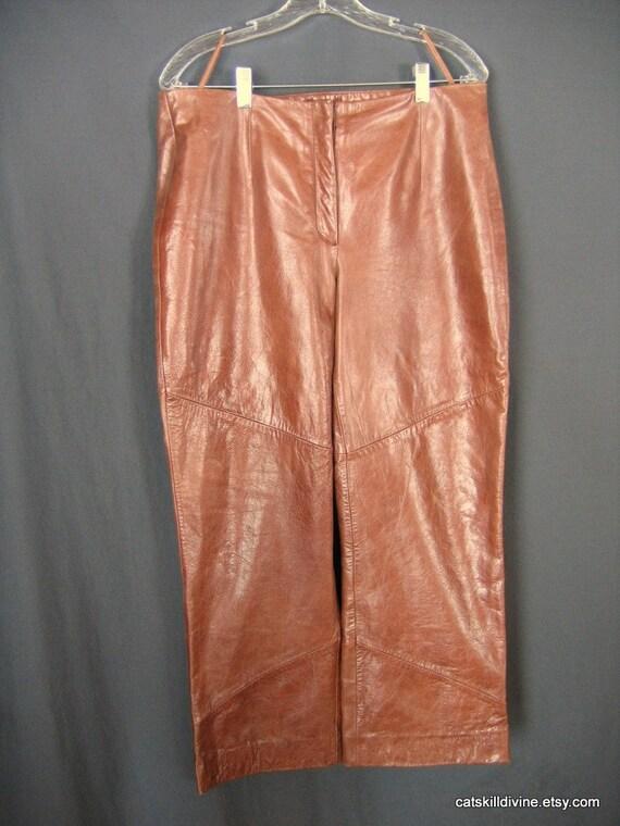 Excellent Rag Amp Bone Skinny Leather Pants In Brown  Lyst