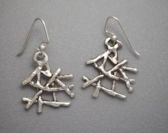 Small Twig Earrings
