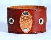 Brown Leather Cuff Friendship Bracelet