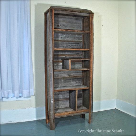 Items Similar To Barn Wood Bookshelf Mississippi Handmade