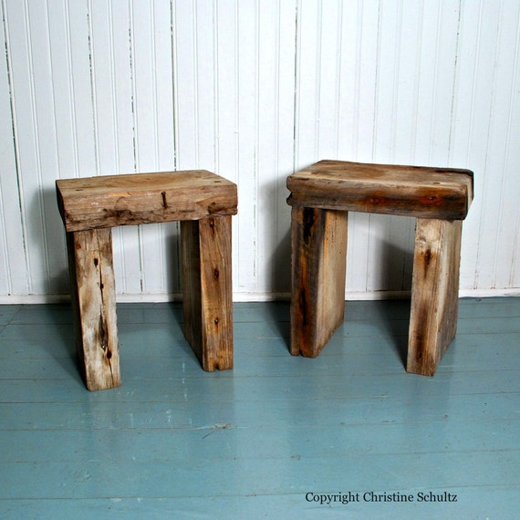 Rustic Plant Stands Reclaimed Barn Wood