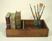 Old Rustic Dovetailed Wooden Box  or Shelf