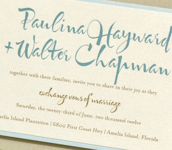 Destination Beach Wedding Invitation Suite, Paulina + Walter, Purchase for a Sample