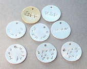 Add A Handstamped Personalized Disc To Any Design In My Store ( Not To Be Sold Alone)