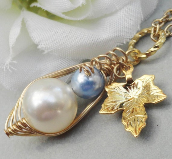 Its A Boy - Two Peas In A Pod Gold  Pendant Ideal Christening Gift Or Gift For A New Mom.