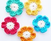 Crochet Daisies - Set of 5