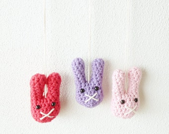 Crochet Bunny Necklace Pattern - Instant Download