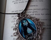 Emily from Corpse Bride filigree cameo necklace