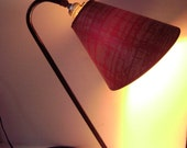 Circa 1940s 50s Herman Miller type Tubular Iron Modern Desk Lamp with Original Shade