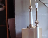 Stunning Pair of 1950s Signed Stiffel Table Lamps Roman Column Neo Classical Elegant Modernism