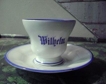 Antique KPM Cup and Saucer Wilhelm Hotel Ware German Porcelain Fine Quality
