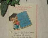 Vintage  Hallmark graduation card 1942 with pocket quotation book for graduates.