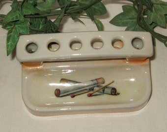 Vintage ashtray Czech Ashtray Cigarette Holder Czechoslovakia Smoking memoribilia tobacciana