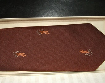 Vintage Men's necktie vintage men's Tie Sears The Men's Store necktie new old stock in original gift box