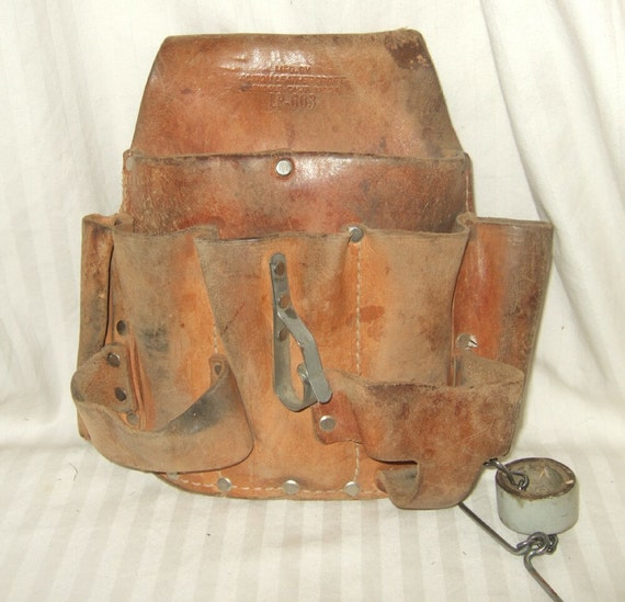 Vintage Leather Tool Pouch Action Leathercraft Lp 603