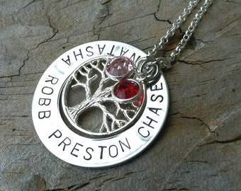 Tree Of Life Personalized Necklace, Christmas Gifts For Mom, Personalized Necklace, Natashaaloha