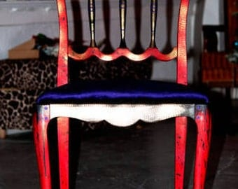 Vintage Hand Painted Art Deco Chair