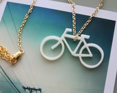 SALE Bicycle Necklace