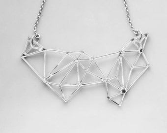 Geometric Necklace - High Fashion Minimalist Prism Necklace