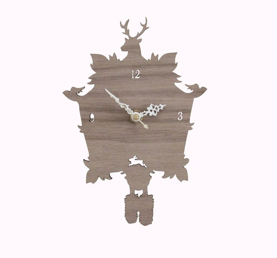 Cuckoo Clock Sale Modern Wood Wall Clock By Iluxo On Etsy