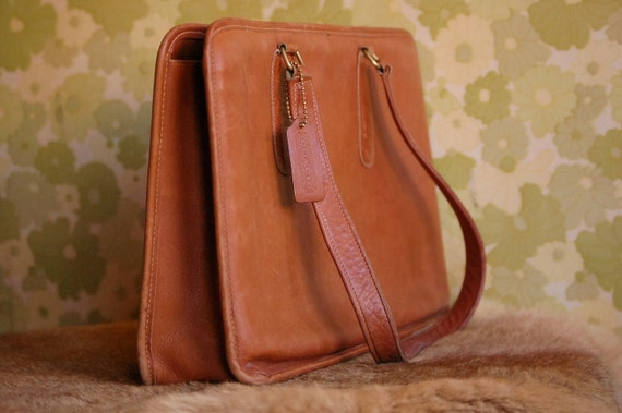 Vintage Durable Brown COACH Tote