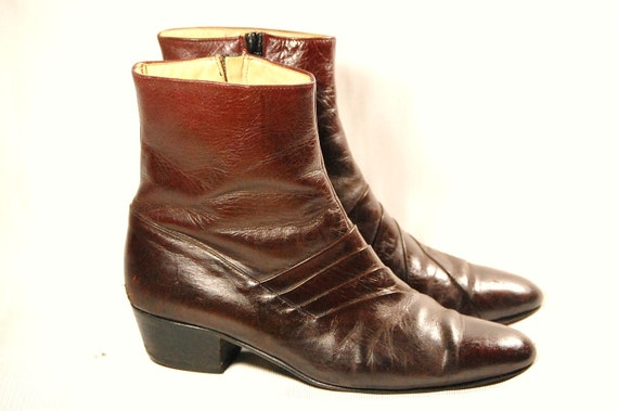 Reserved Vintage Spanish Leather Ankle Boots With By