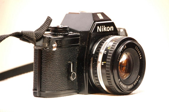 Vintage Black Nikon EM 35mm Camera