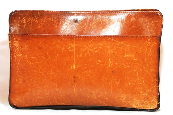 Brown Leather Brief/Laptop/Tablet Case