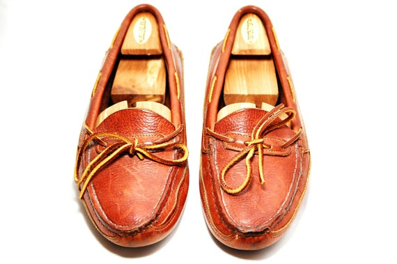 Handmade Leather Orvis Moccasins Mens US 10 1/2