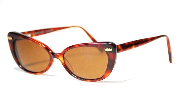 Vintage Todd Oldham Tortoise Shell Polarized Retro Beatnik Cat Glasses/Sunglasses