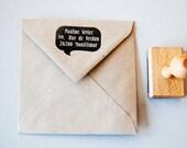Custom Stamp return address. Wood. New Sizes