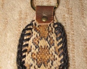 leather keyring with snakeskin BEAUTIFUL