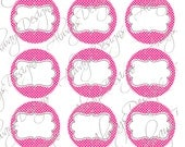 Editable Pink and White digital image, scrapbooking,s4h,jewelry,cupcake topper