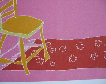 "small print postcard ""chair"""
