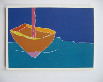 "small print postcard ""sailboat"""