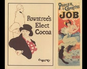 French Poster Art, The Beggarstaffs, And Paris Job Cigarette Paper