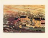 Lehigh Canal New York, Joseph Pickett, Antique Print, London, 1974