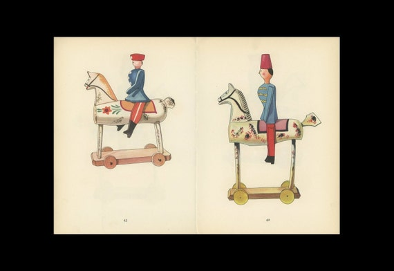 Toy Soldier And Horse Antique Toy Print Illustrated By Emanuel Hercik