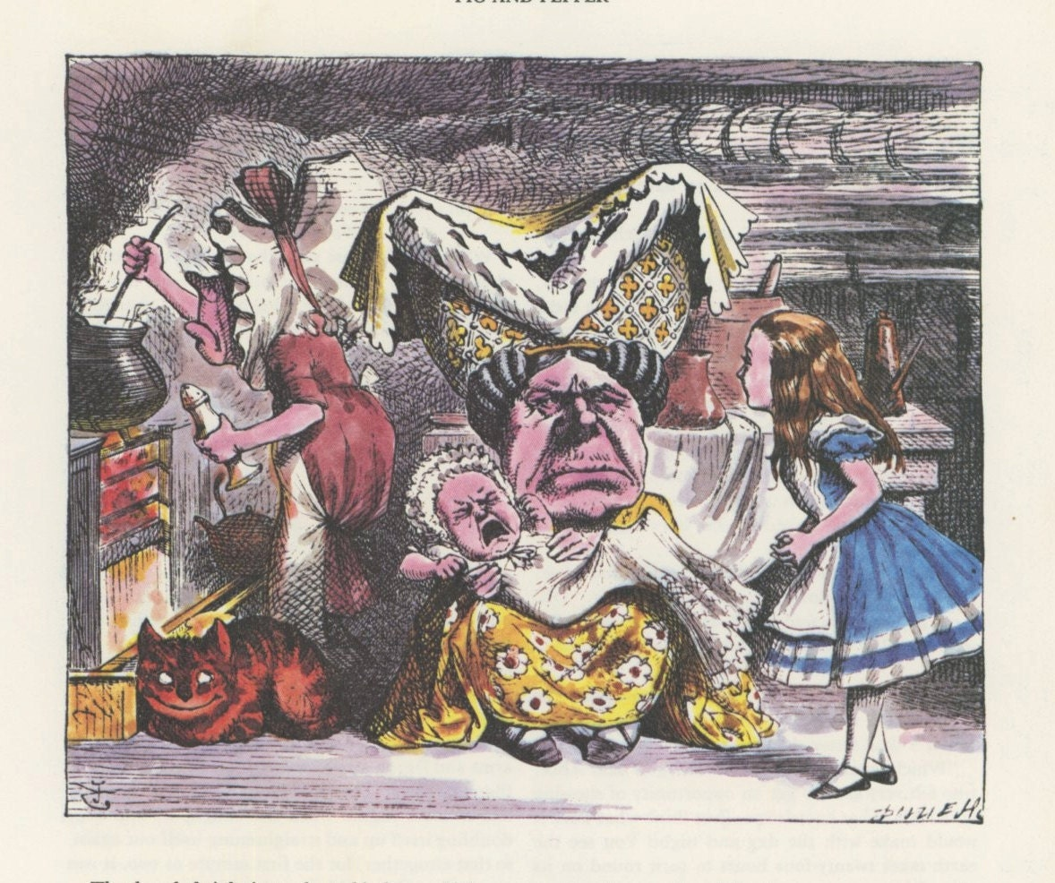 Alice The Duchess Cook Screaming Baby And Cheshire by ...