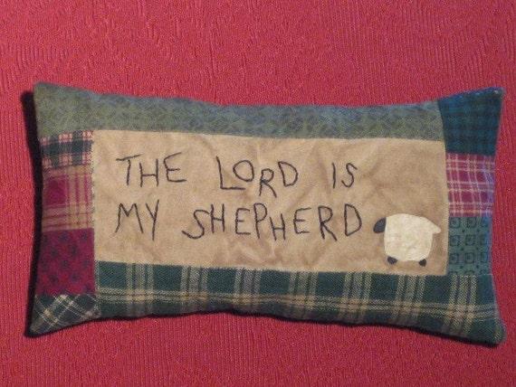 Primitive Pillow Tuck -The LORD is my Shepherd - Shelf Sitter