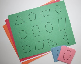 Montessori & Homeschooling Cutting Work - File Downloads