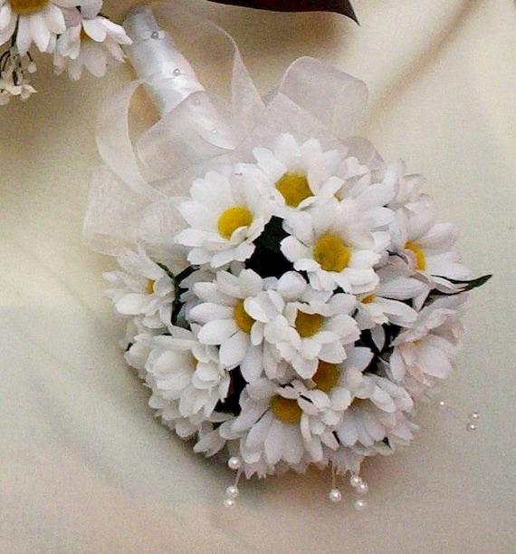 Cheap Silk Flower Bouquets For Weddings: Wedding Bouquet Silk Daisy Bouquet Cheap Bouquets