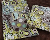Gender Friendly Baby Whimsical Print Burp Cloth And Wash Cloth Set