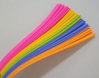Neon Mix : Lucky Stars Paper Strips (100)