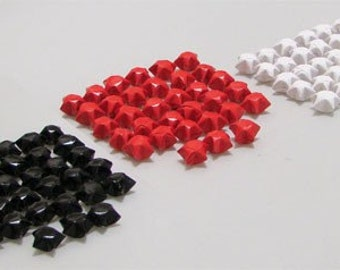 Lucky Stars  (100): Black, White & Red Mix