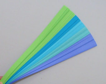 Peacock Mix : Lucky Stars Paper Strips (100)