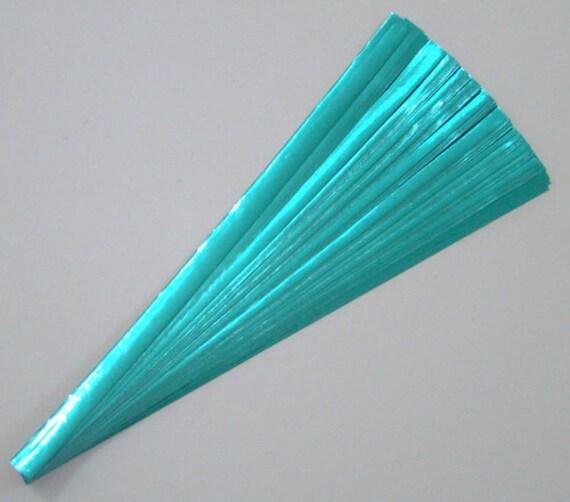 Light-Blue Foil : Lucky Stars Paper Strips (100)