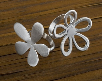 Floral Ring, -handmade-, Sterling silver