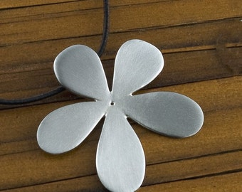 Flower Pendant -handcrafted-, Sterling Silver