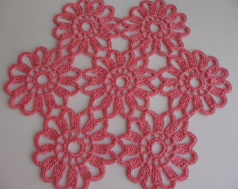 White, pink or coffee brown flower doily. Pick your color